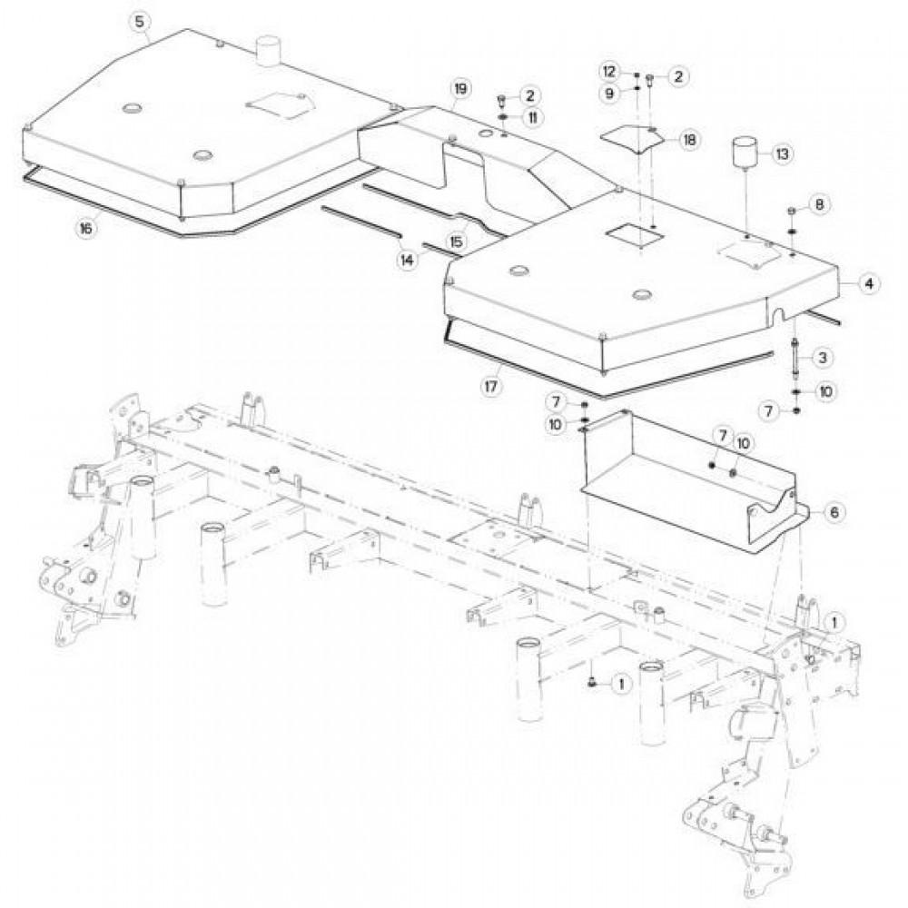 07 Afschermingen passend voor KUHN GMD310F-FF