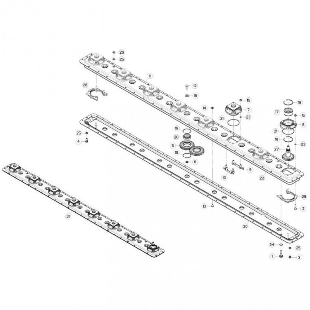 11 Maaibalk tandwielbehuizing passend voor KUHN GMD310F-FF