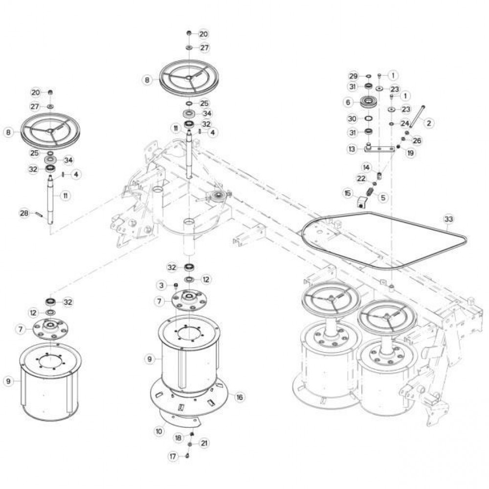 03 Trommel passend voor KUHN GMD310F-FF