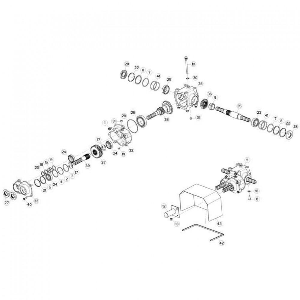 05 Centrale tandwielkast passend voor KUHN GMD310F-FF