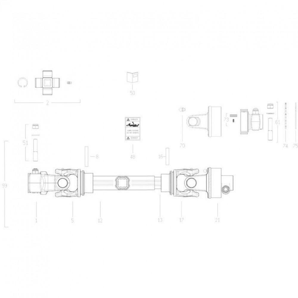 21 Aftakas passend voor KUHN GMD310F-FF