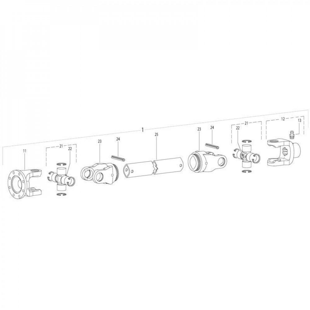 22 Aftakas passend voor KUHN GMD310F-FF