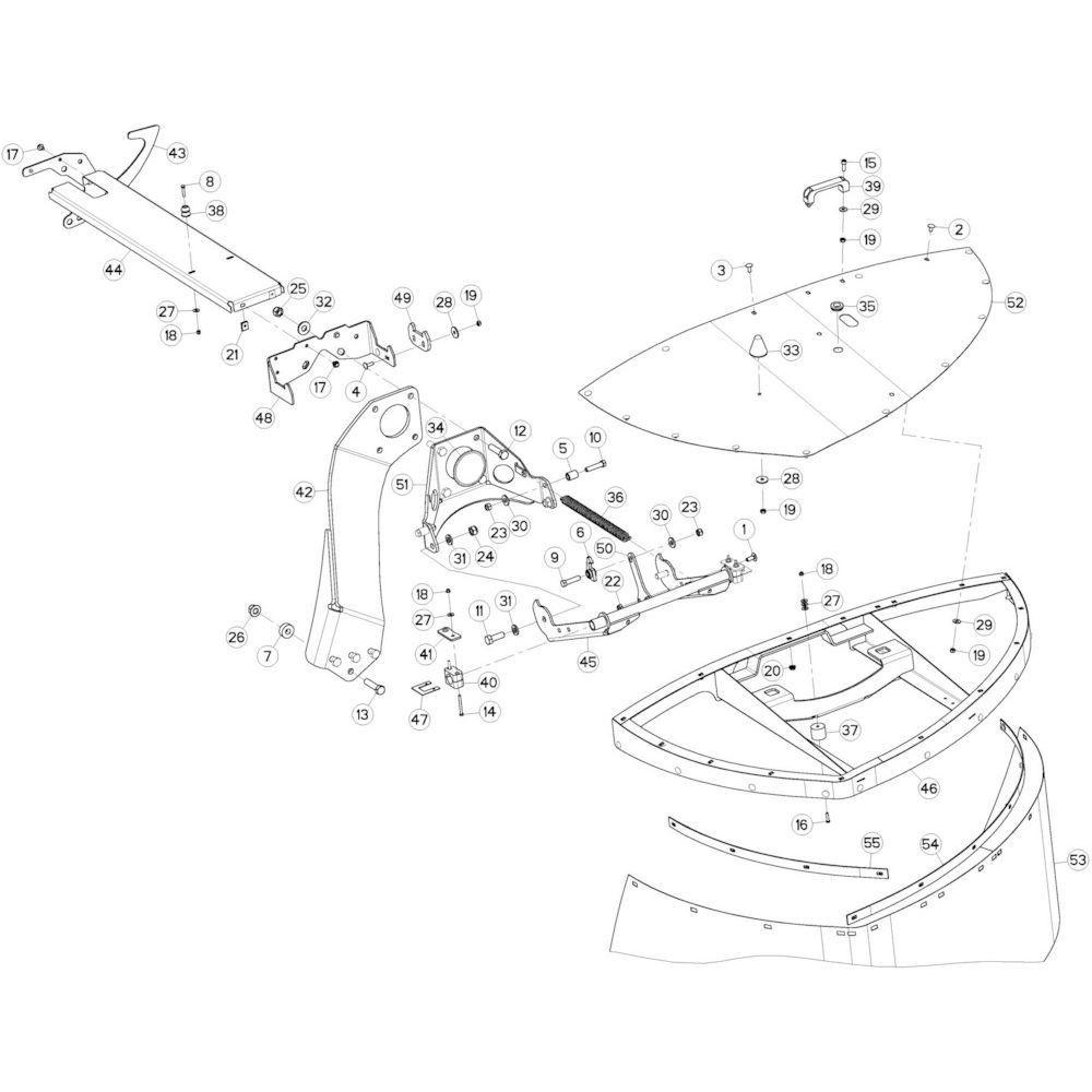09 Beschermingen rechts passend voor KUHN GMD3120F