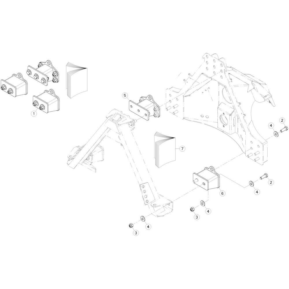 16 Glijplaatschoenset passend voor KUHN GMD3120F