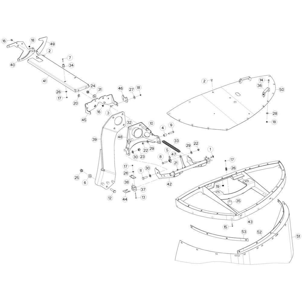 09 Beschermingen rechts 2 passend voor KUHN GMD3120F