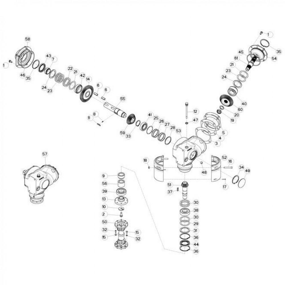 12 Conische tandwielkast passend voor KUHN FC313TG