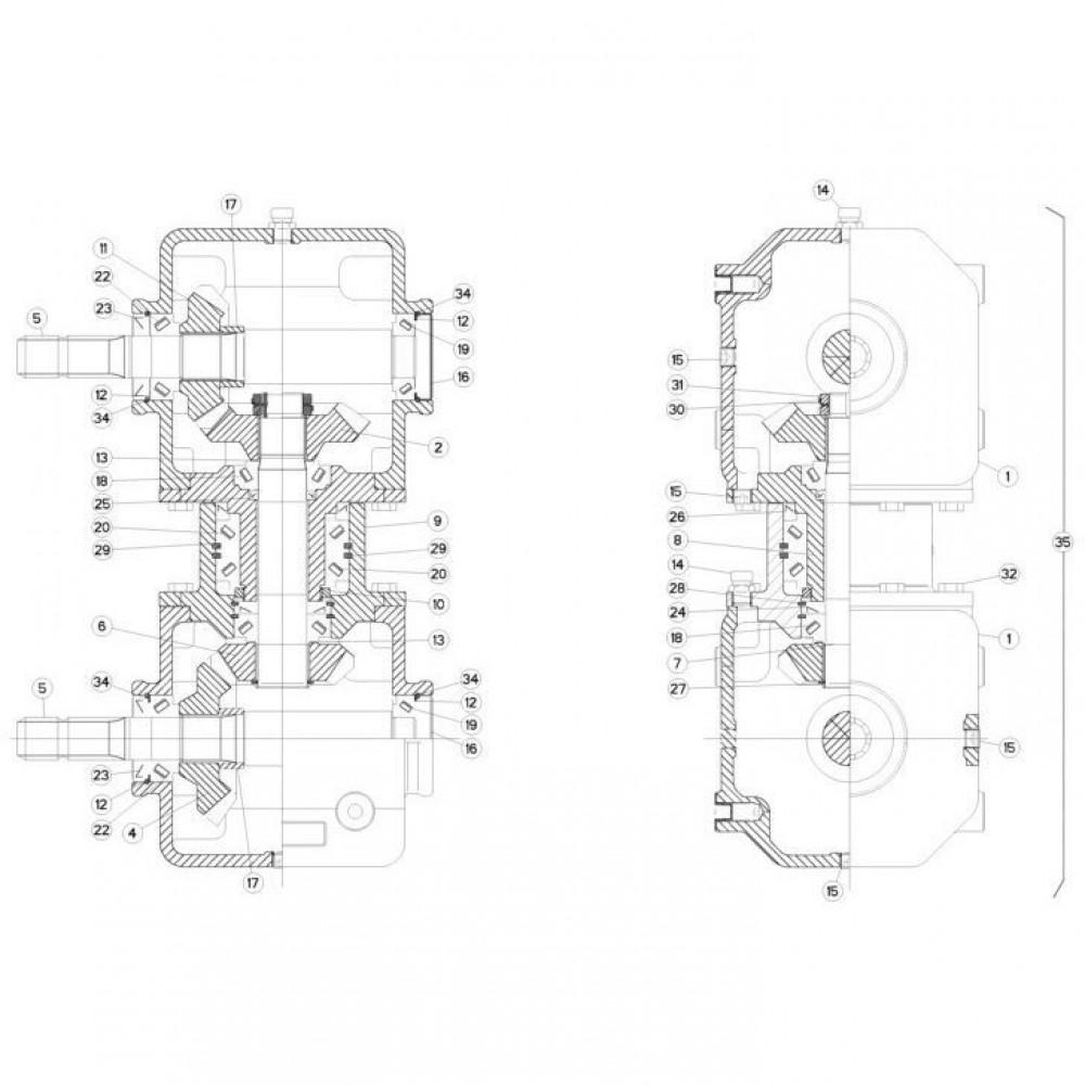 04 Gyrodine tandwielkast passend voor KUHN FC313TG-FF