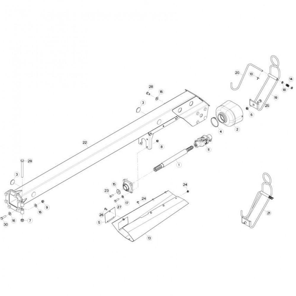 05 Aandrijving passend voor KUHN FC313TG-FF