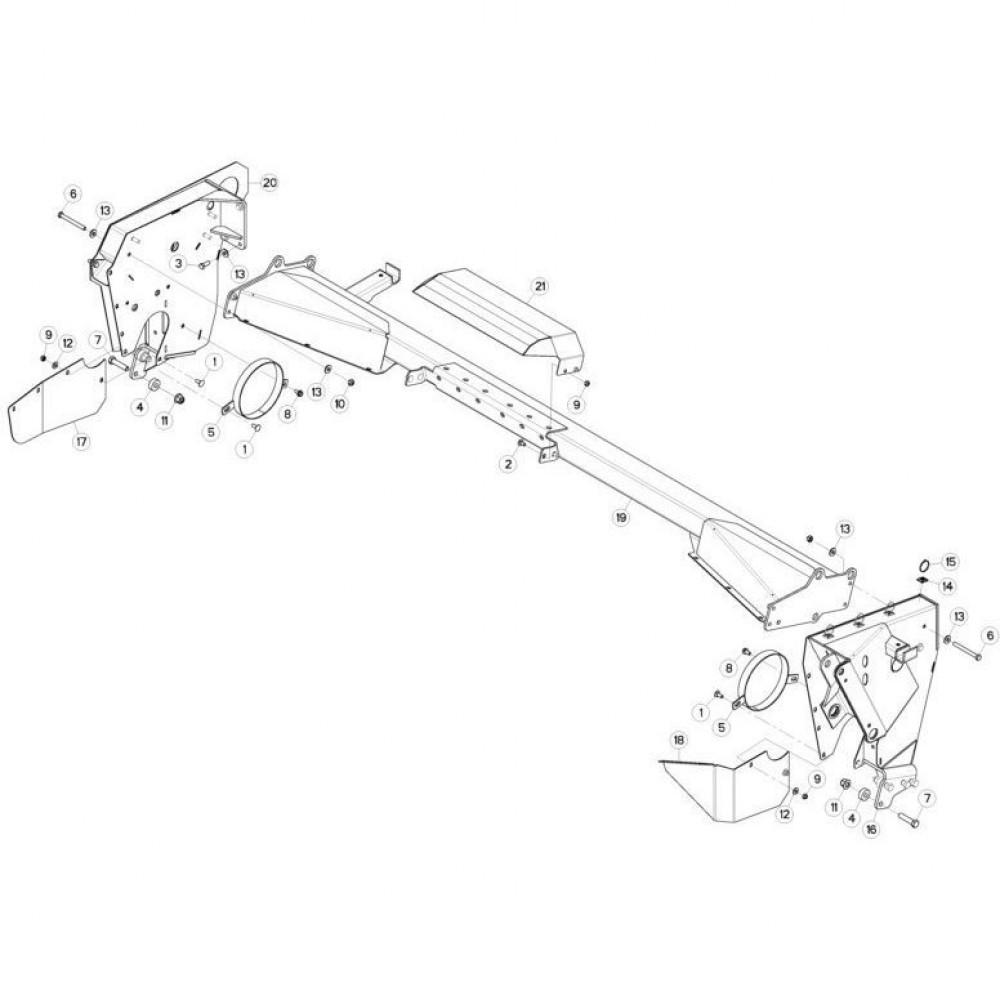 10 Steunbuis passend voor KUHN FC313TG-FF