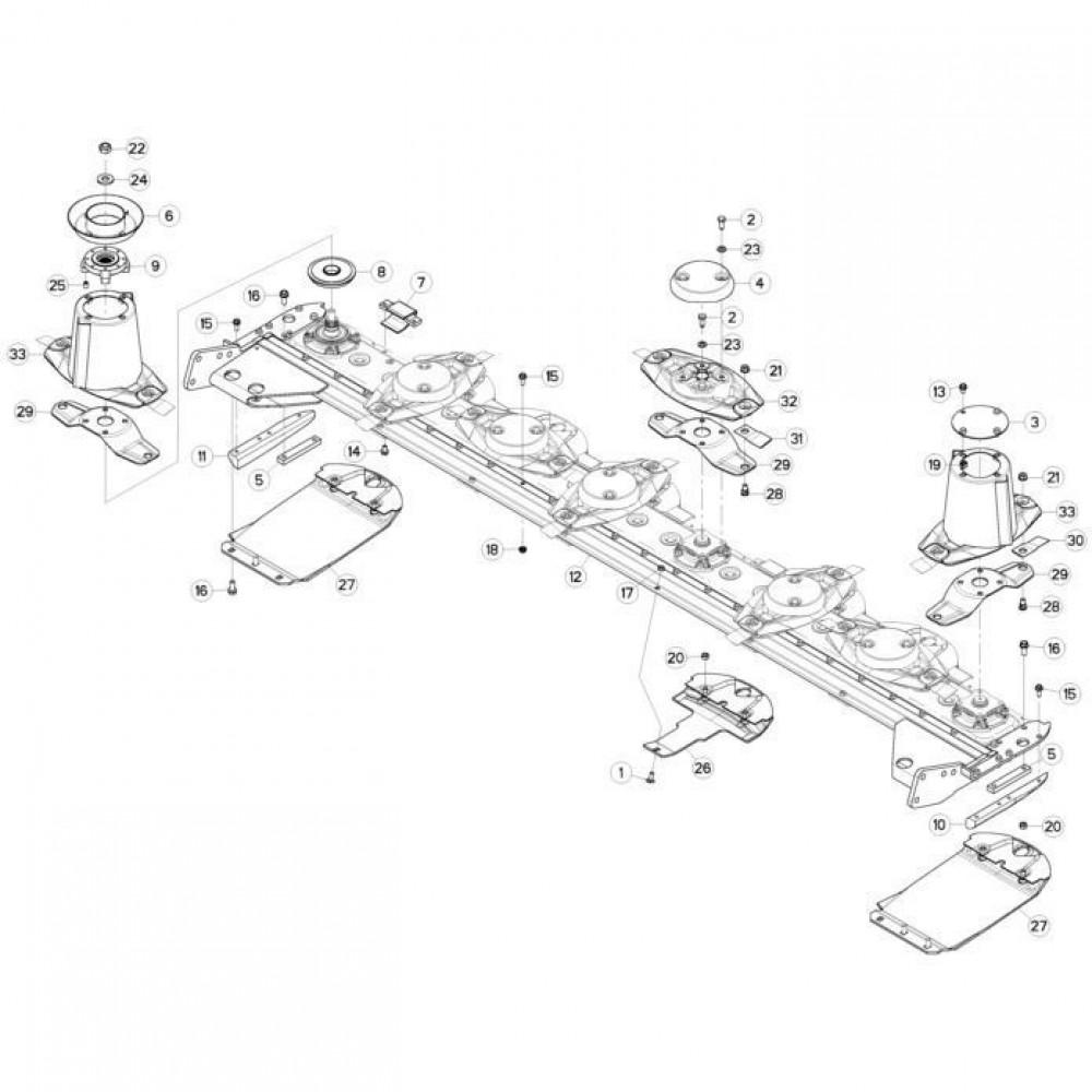13 Schijven, beschermingen en glijplaten passend voor KUHN FC313TG-FF