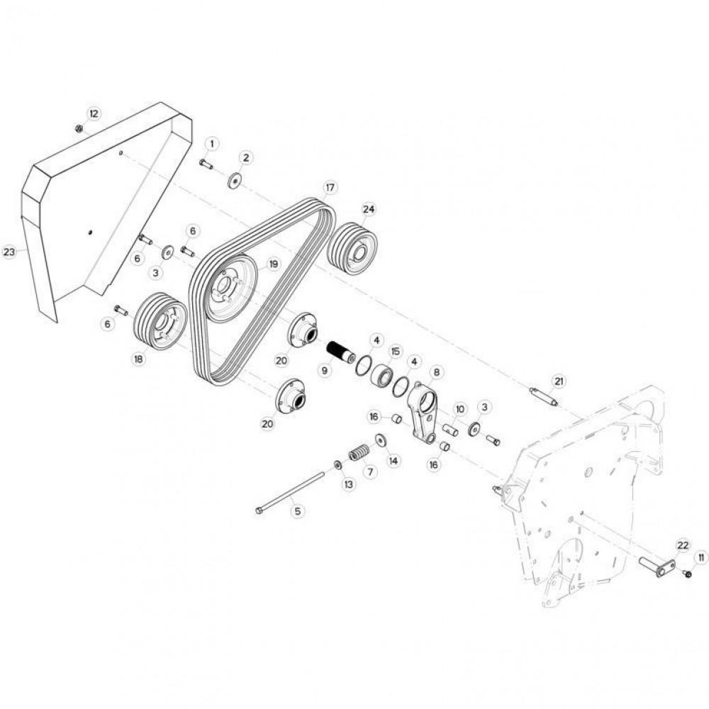 14 Spanner riem passend voor KUHN FC313TG-FF