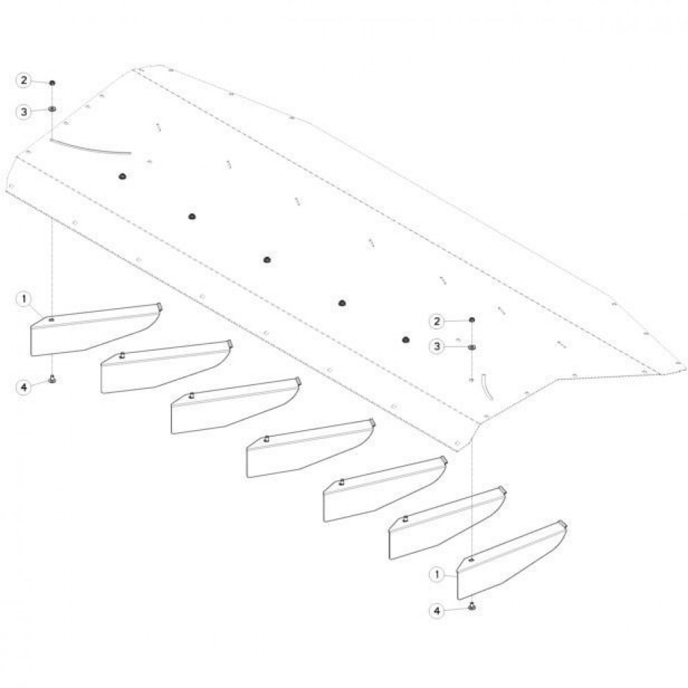 18 Deflectorset passend voor KUHN FC313TG-FF