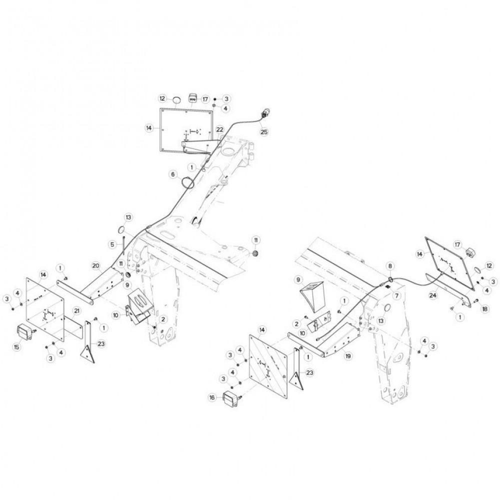 22 Verlichting passend voor KUHN FC313TG-FF