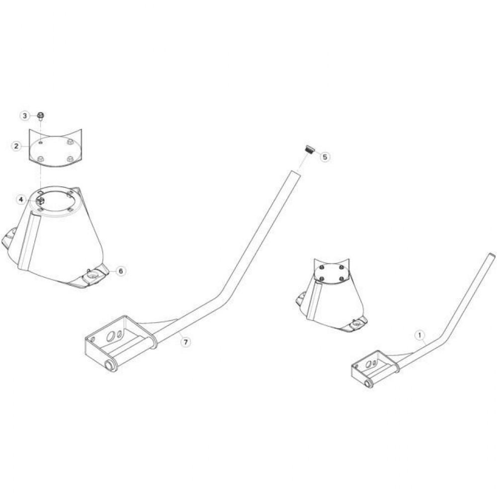 30 Schijven met grote kegel passend voor KUHN FC313TG-FF
