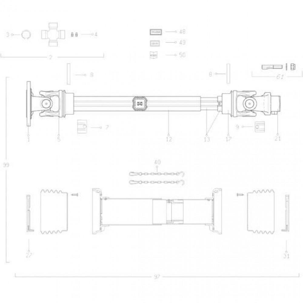32 Transmissie 2 passend voor KUHN FC313TG-FF