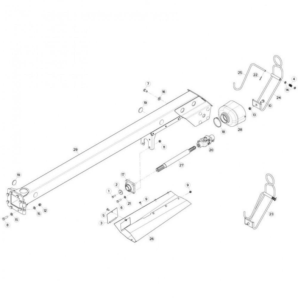 05 Aandrijving passend voor KUHN FC313TG-FF 2