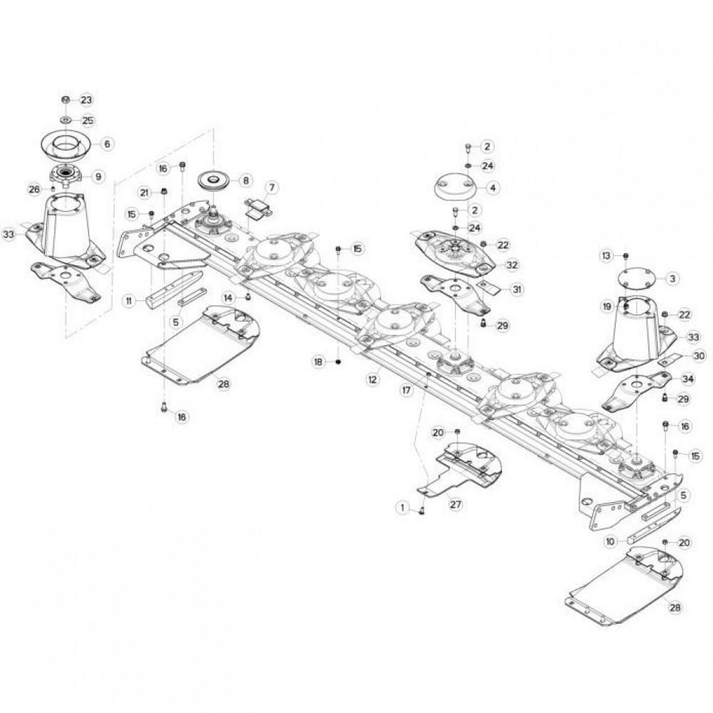 15 Schijven, beschermingen en glijplaten passend voor KUHN FC313TG-FF 2