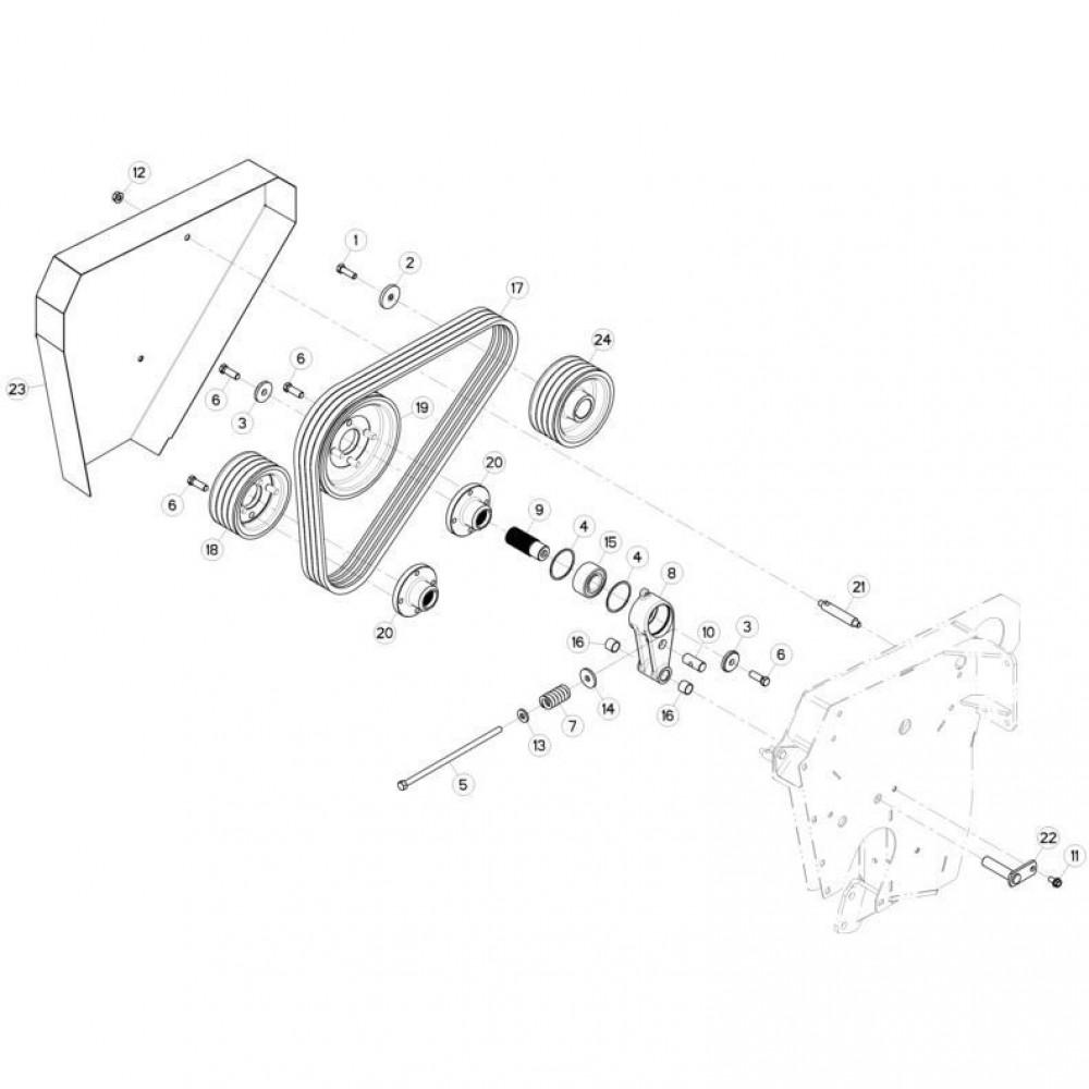 16 Spanner passend voor KUHN FC313TG-FF 2