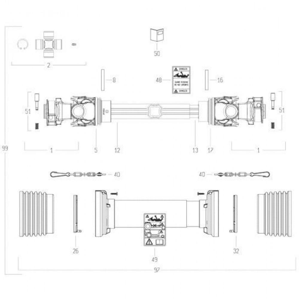 39 Transmissie 1 passend voor KUHN FC313TG-FF 2