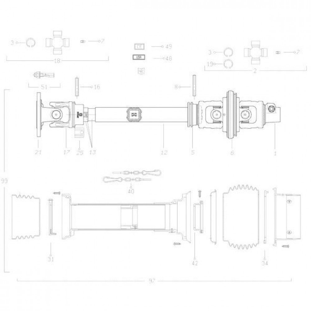 41 Transmissie 3 passend voor KUHN FC313TG-FF 2