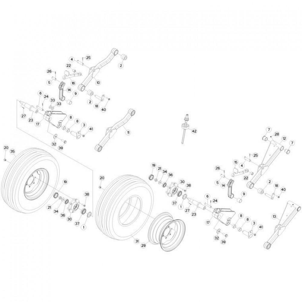 09 Wielen passend voor KUHN FC313TG-FFRA