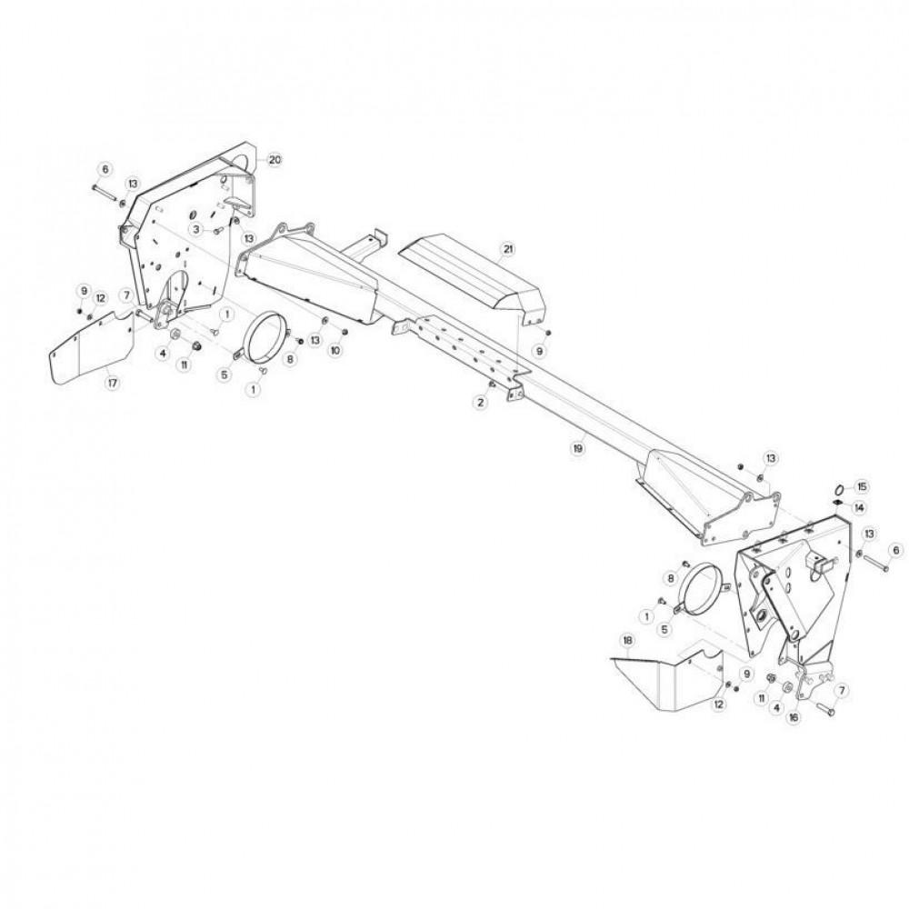 11 Steunbuis passend voor KUHN FC313TG-FFRA