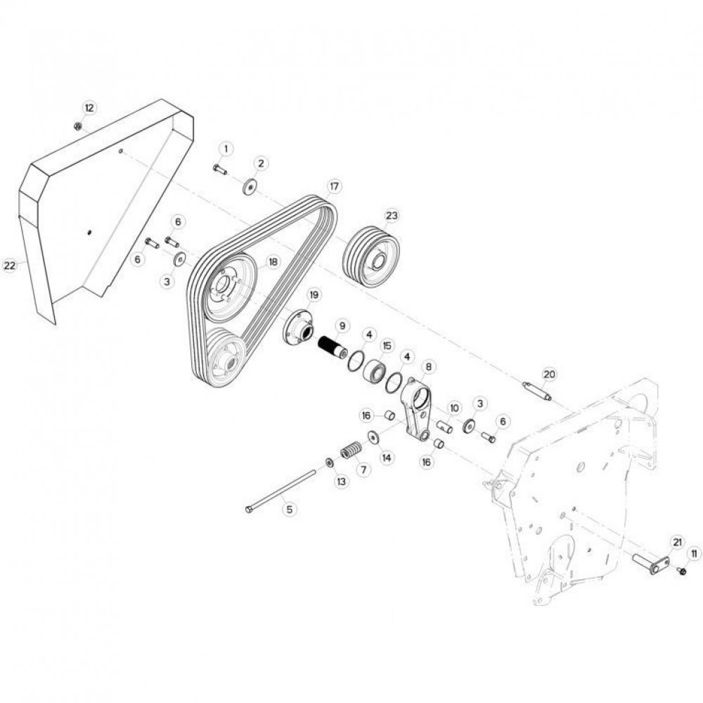 17 Spanner passend voor KUHN FC313TG-FFRA