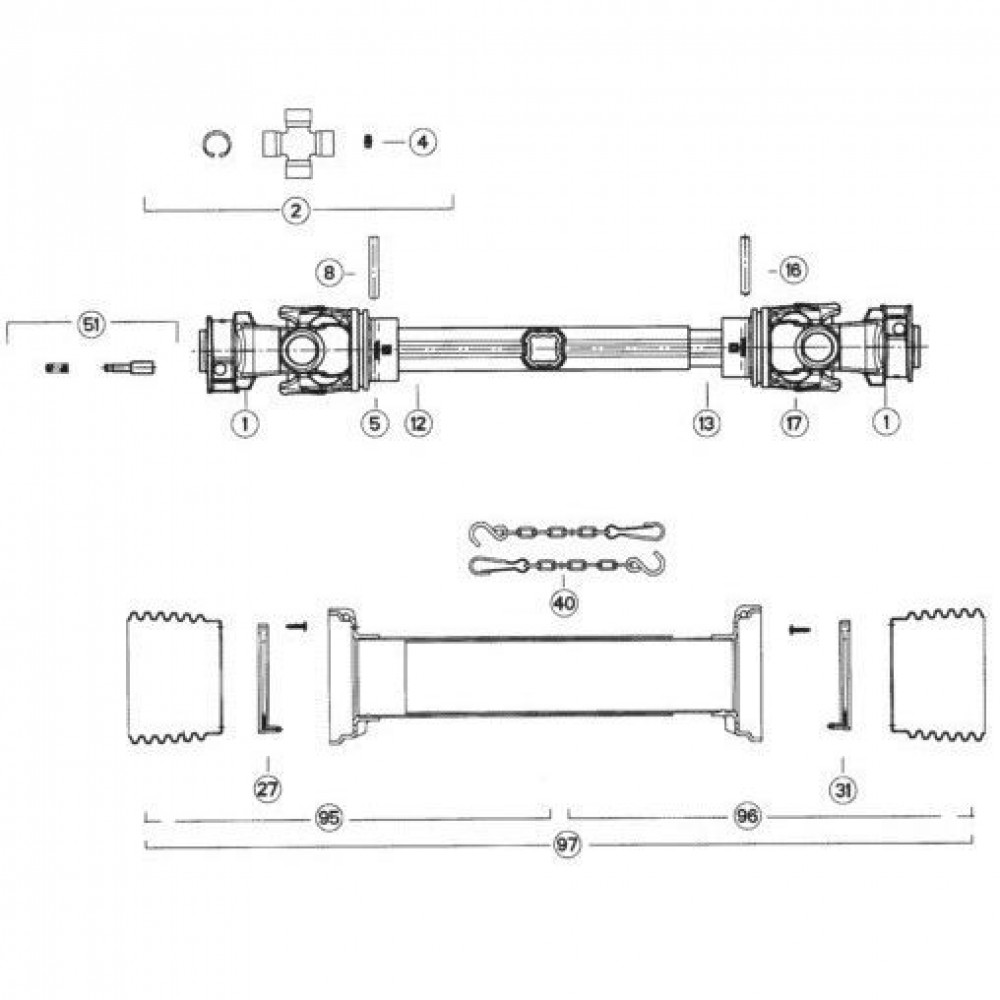 39 Transmissie 1 passend voor KUHN FC313TG-FFRA