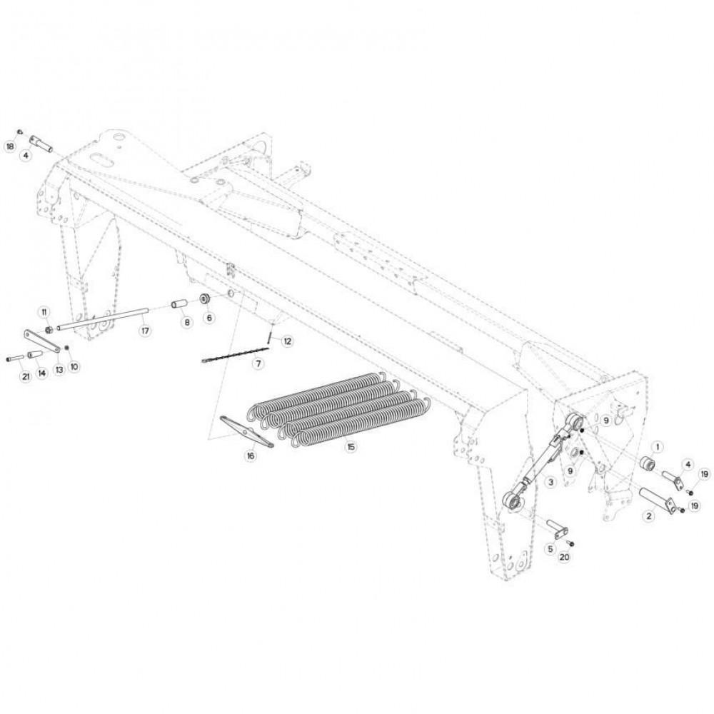 09 Ophangingssysteem passend voor KUHN FC313TGRA