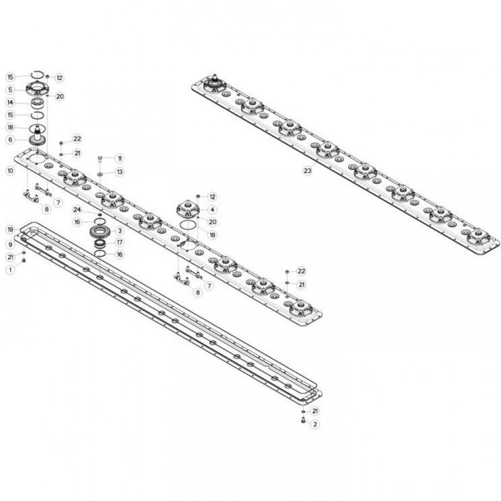 12 Maaibalk, tandwielkast passend voor KUHN FC313TGRA