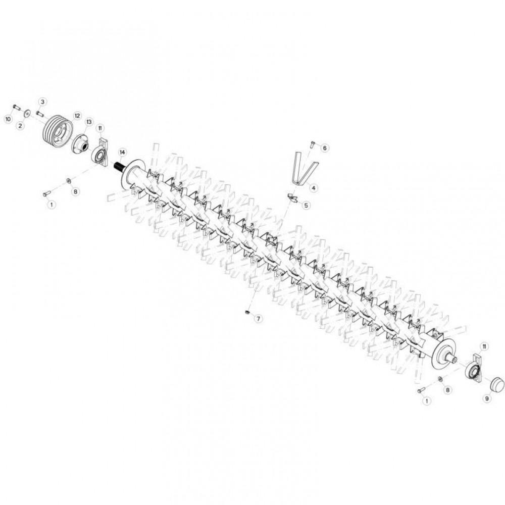 16 Vingerrotor 1 passend voor KUHN FC313TGRA