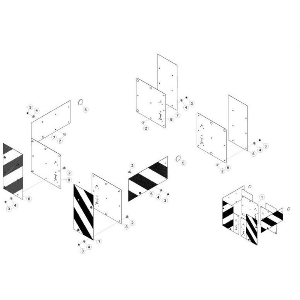 32 Mechanische vergrendelingsvoorziening passend voor KUHN FC313TGRA