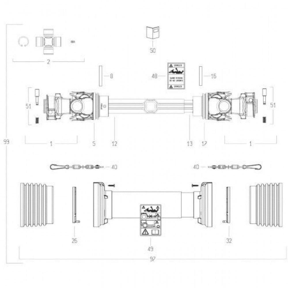 33 Transmissie 1 passend voor KUHN FC313TGRA