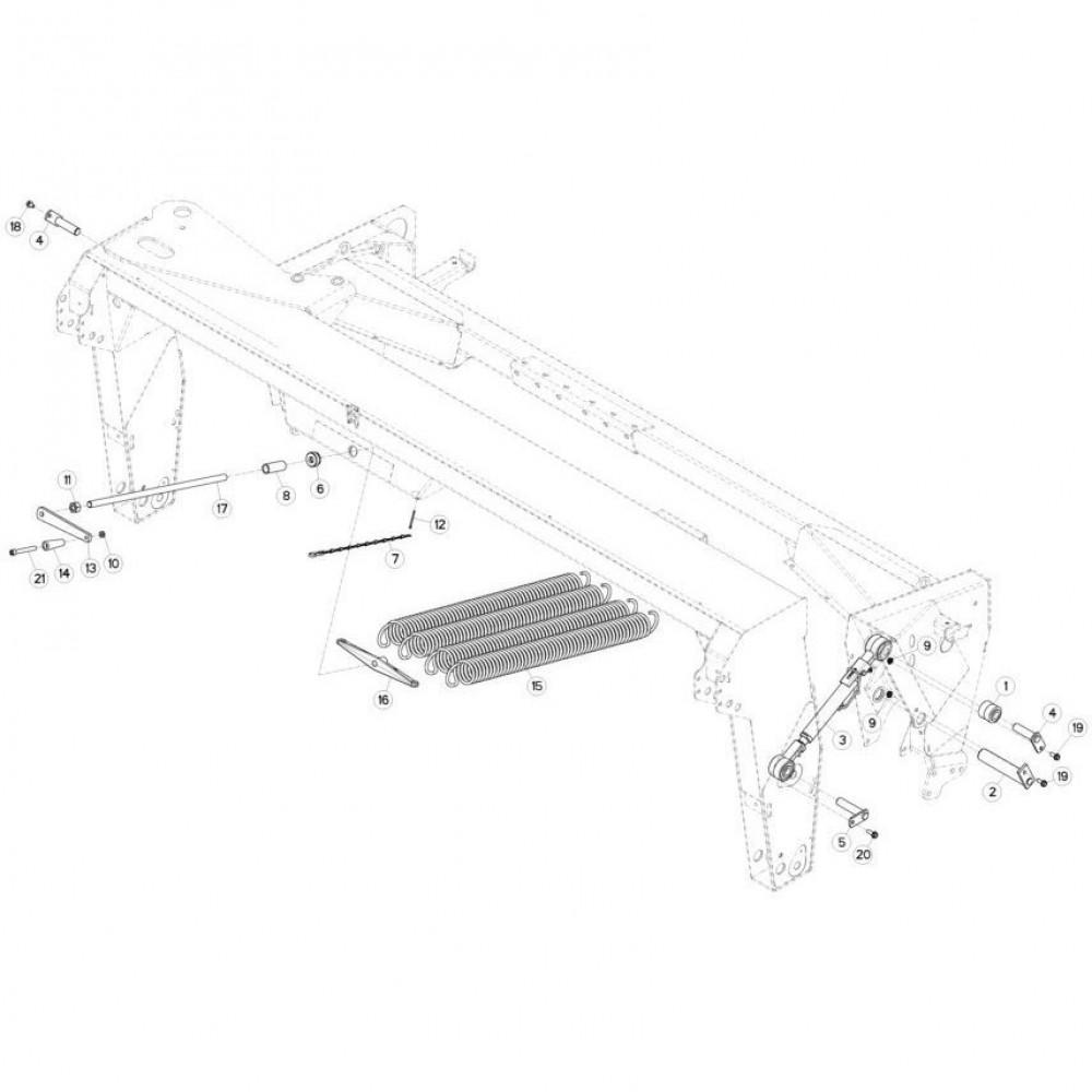10 Ophangingssysteem passend voor KUHN FC313TGRA