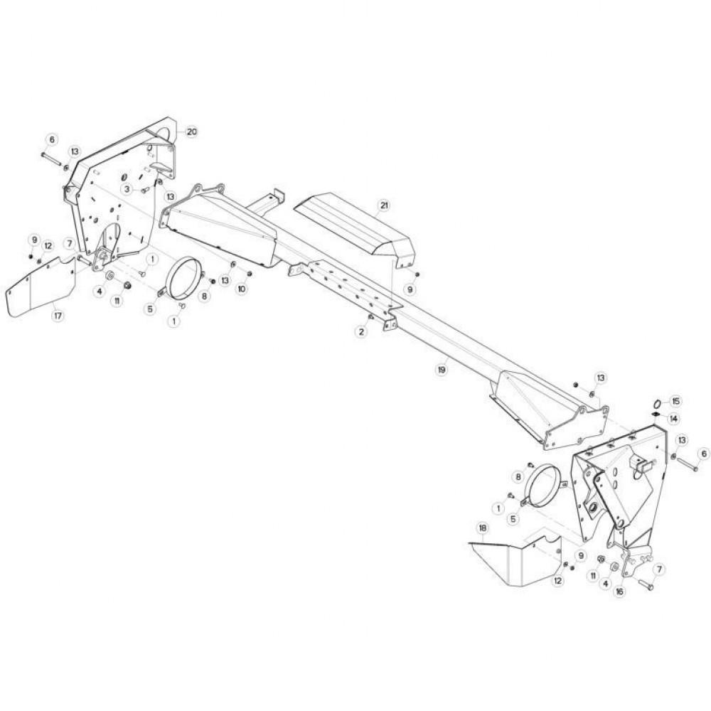 11 Steunbuis passend voor KUHN FC313TGRA