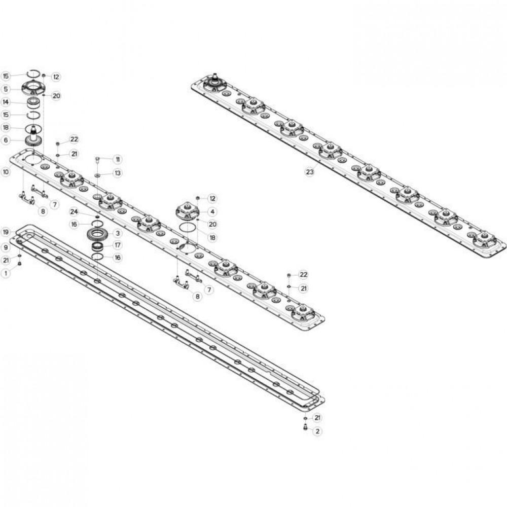 13 Maaibalk, tandwielkast passend voor KUHN FC313TGRA