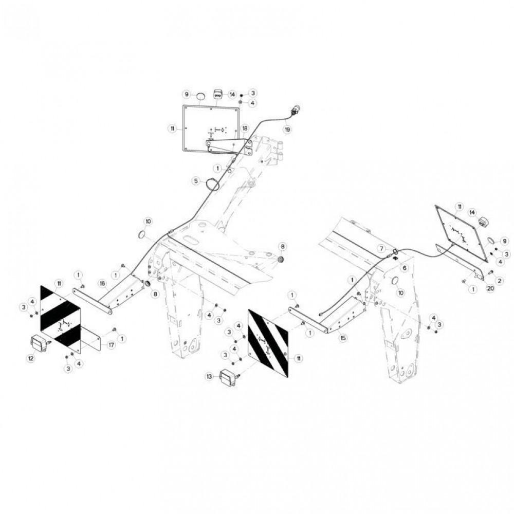 22 Verlichting passend voor KUHN FC313TGRA