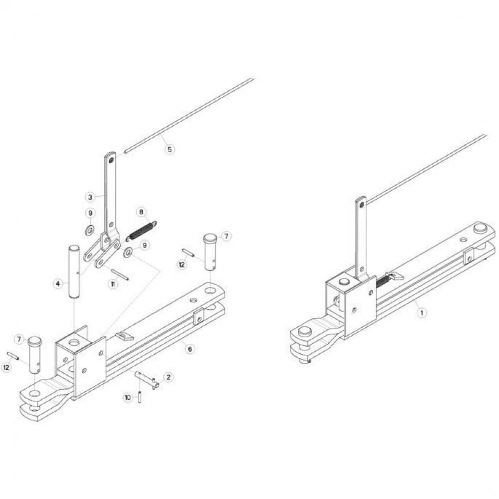 34 Mechanische vergrendelingsvoorziening passend voor KUHN FC313TGRA