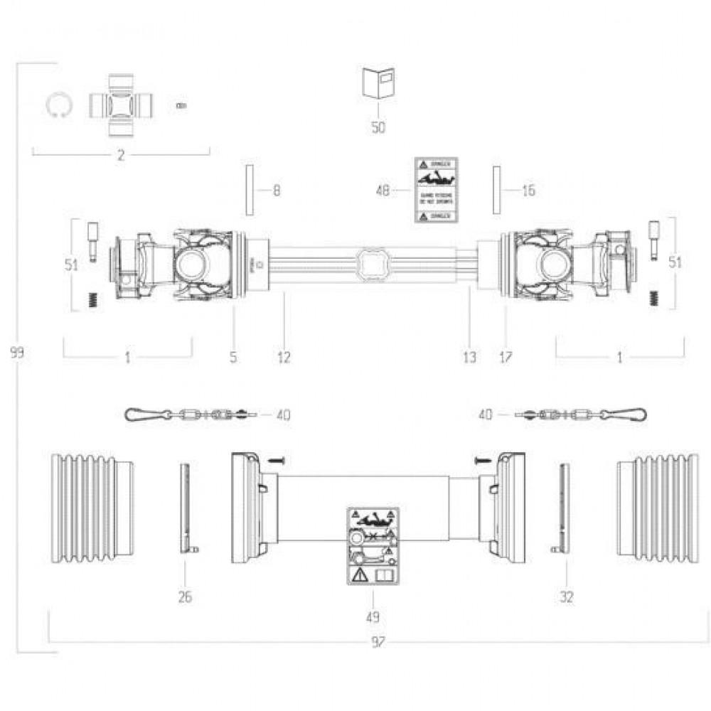 37 Transmissie 1 passend voor KUHN FC313TGRA