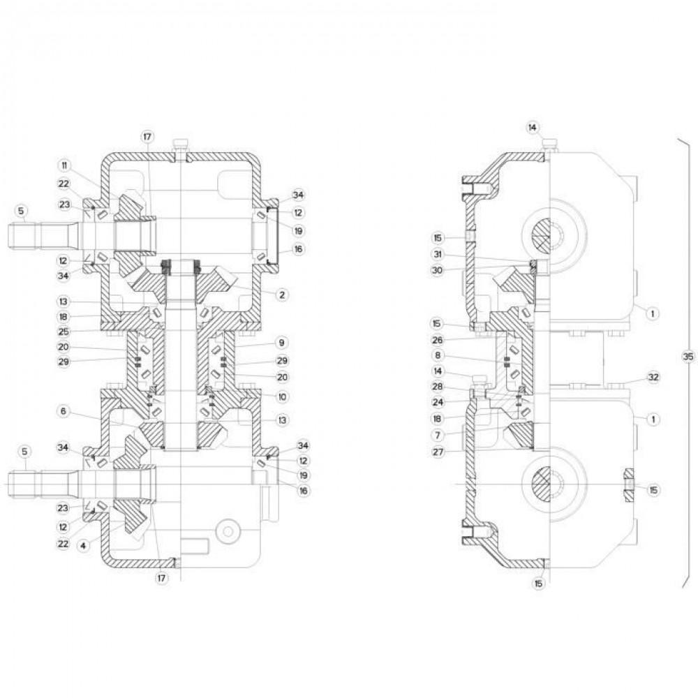 04 Gyrodine tandwielkast passend voor KUHN FC313TGRA