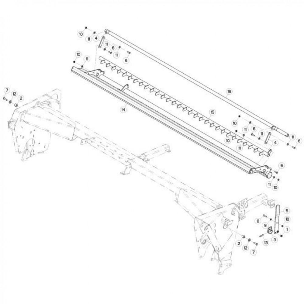 18 Kam, deflector passend voor KUHN FC313TGRA
