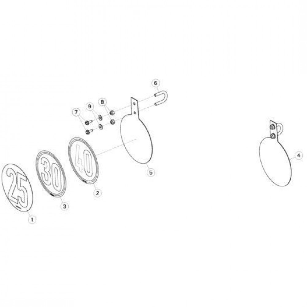 30 Snelheidsbegrenzing steunset passend voor KUHN FC313TGRA