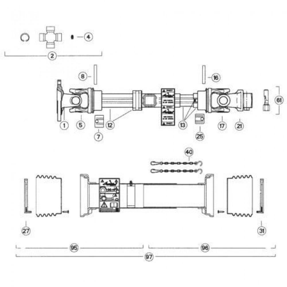 38 Transmissie 2 passend voor KUHN FC313TGRA