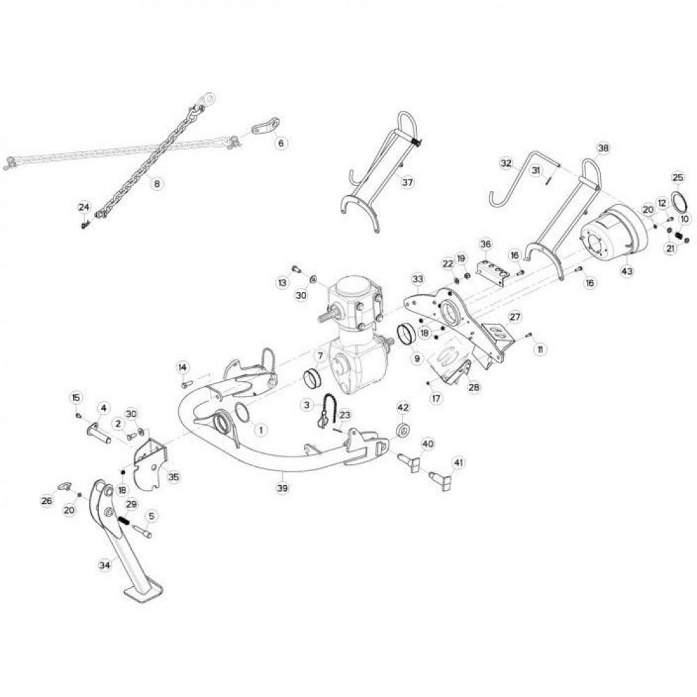 01 Trekhaak passend voor KUHN FC3160TLD