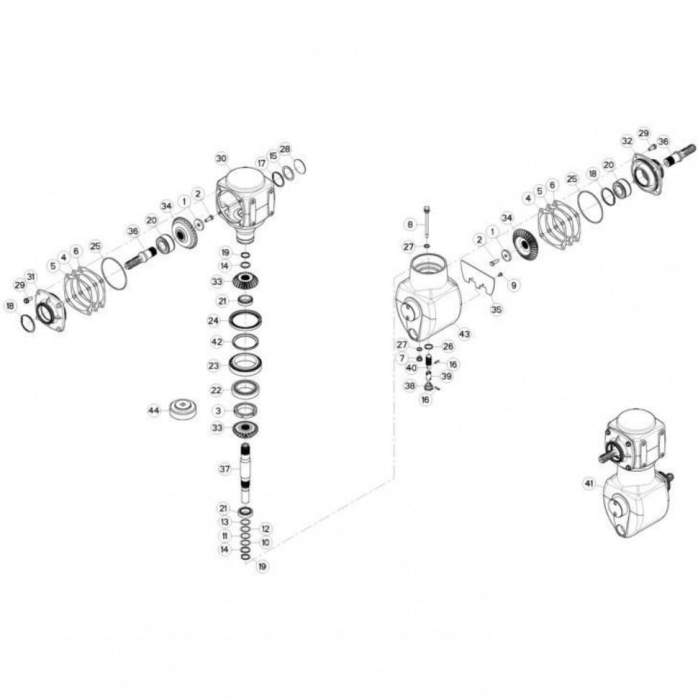 02 Gyrodine tandwielkast passend voor KUHN FC3160TLD