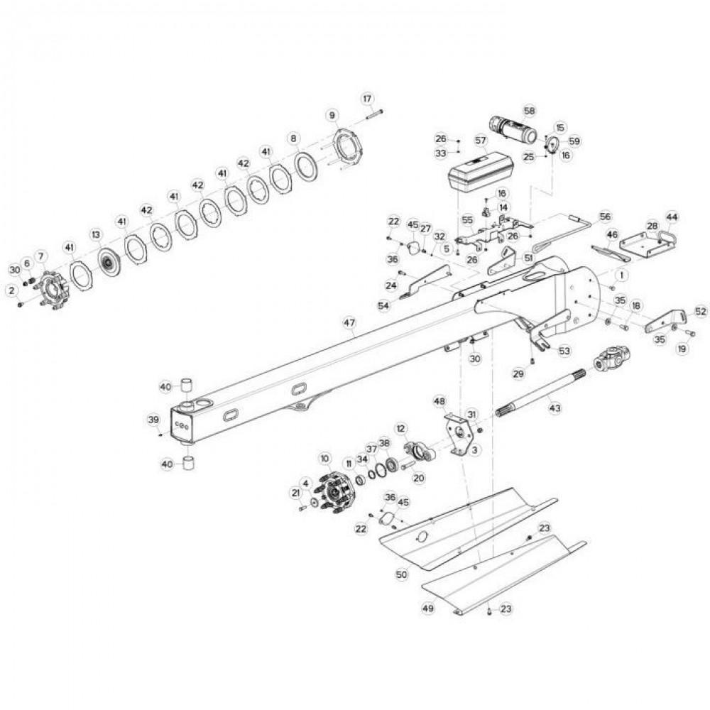 03 Trekstang passend voor KUHN FC3160TLD