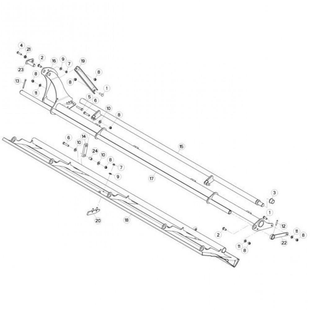 10 Deflectorset passend voor KUHN FC3160TLD