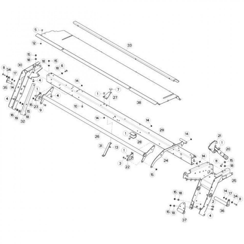 11 Frame 2 passend voor KUHN FC3160TLD