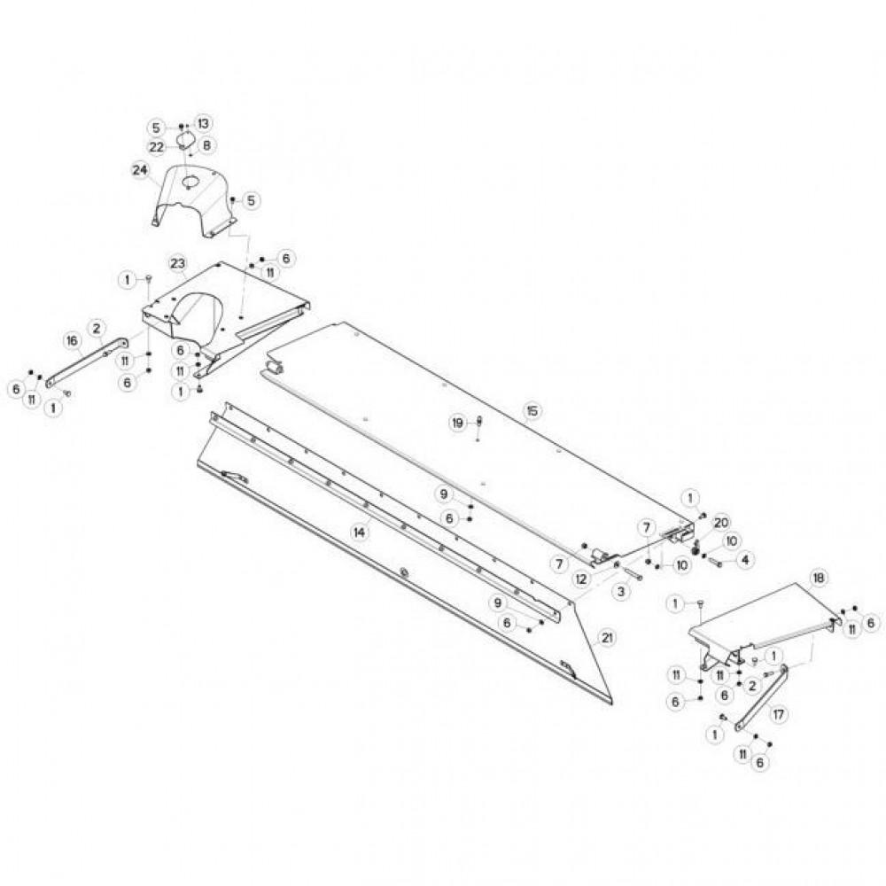 15 Schermbeugels passend voor KUHN FC3160TLD