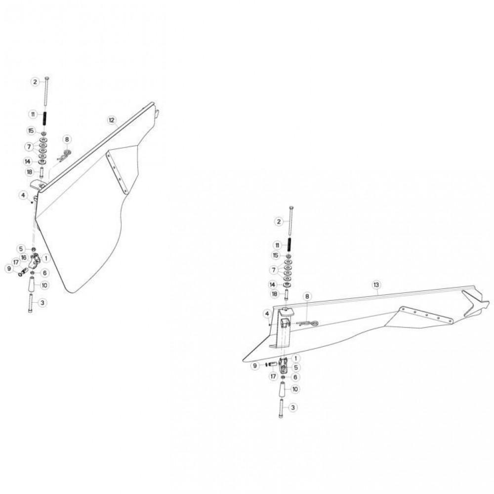 18 Zwadbordset passend voor KUHN FC3160TLD